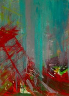 Blue Symphony 100x100 cm Akryl na plátně Praha 2012_small