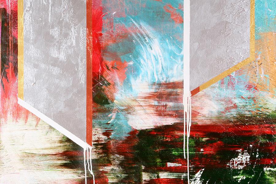 Garden 100x100 cm Akryl na plátně Praha 2012_small