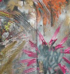 Métro 100x200cm Akryl na plátně Praha 2012_small