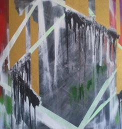 Yelow tube 100x150 cm Akryl na plátně Praha 2013_small