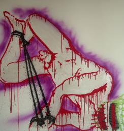 Apache č3 100x100 cm Akryl na plátně Praha 2012