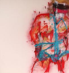 Blue Boy č2 100x100cm Akryl na plátně Praha 2012