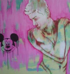 Mickey 100x100 cm Akryl na plátně Praha 2013