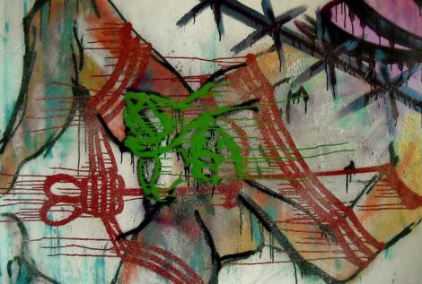 Texas Boy 130x130 cm Akryl na plátně Praha 2012