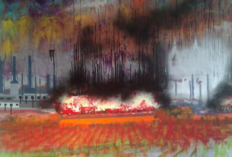 Kirkuk2-City of Fear-100x130cm-Akryl na plátně-Iraq-Kurdistan-2014